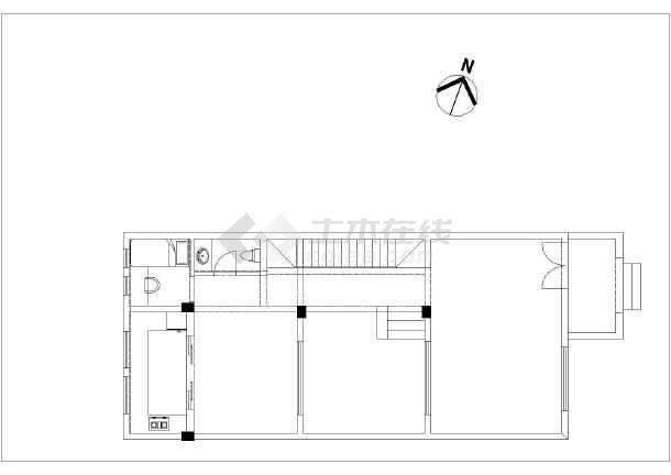 芜湖某住宅户型样板房装饰给排水设计-图一