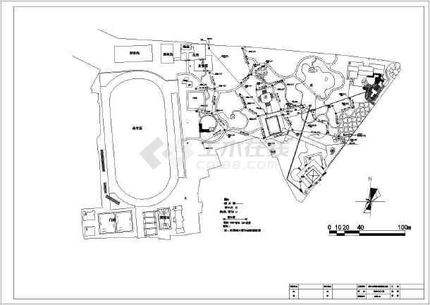 某市公园给排水设计详图-图二