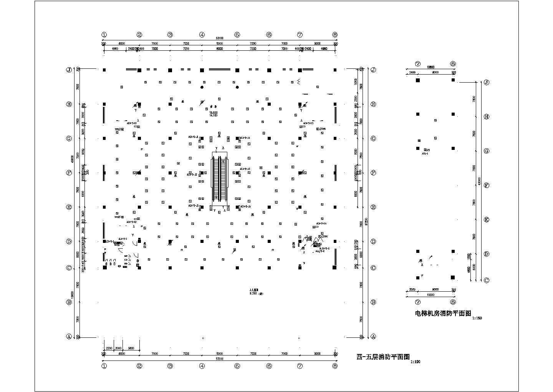 某商场消防平面图(共6张图纸)图片2