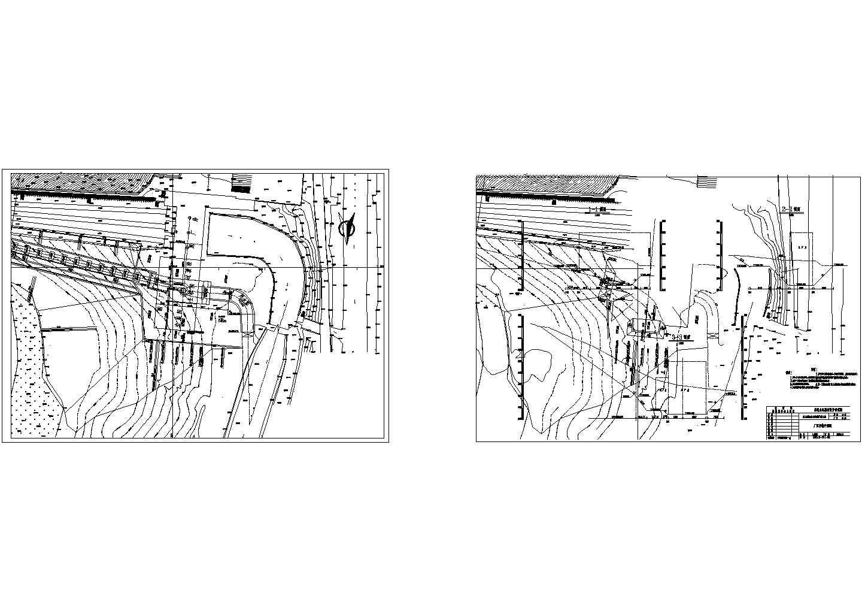 南方某城市水电站厂房全套设计CAD施工图图片1