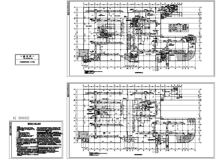 某人防地下室通风设计cad施工设计图(含设计与施工说明)图片1