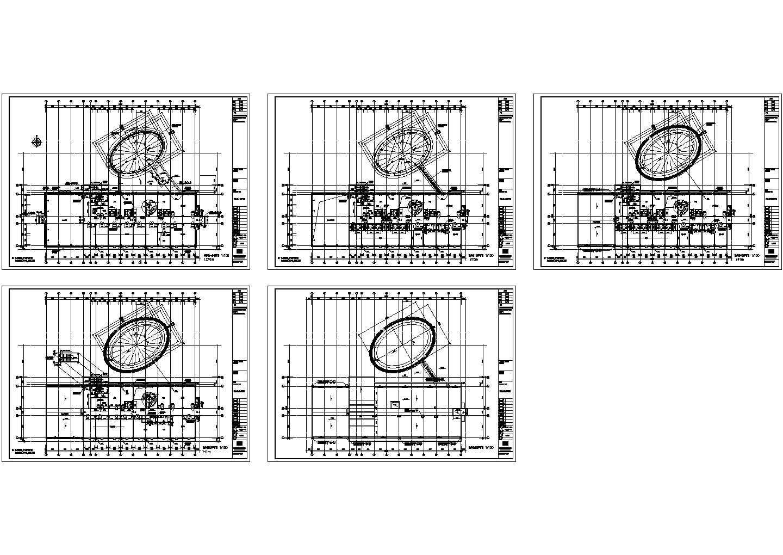 【4层】3727平米框架商务楼全套设计施工图(施组设计书109页,工程量清单计价,部分建筑图,完整结构图,总平图,横道图)图片3