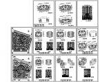 小区规划设计总平面图2张 含一梯二户多层住宅平立面设计图(共11张图)图片1