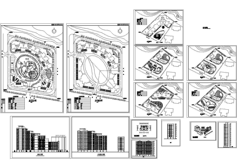 总用地12450平米武警住宅楼小区规划总平面布置图 建筑立面图图片1