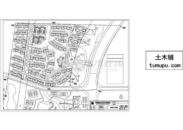 多层环保小区建筑设计施工图-图一