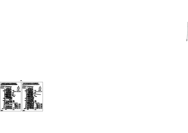 建设用地24906.38平米某县居住小区详细规划设计总平面2个方案图片1