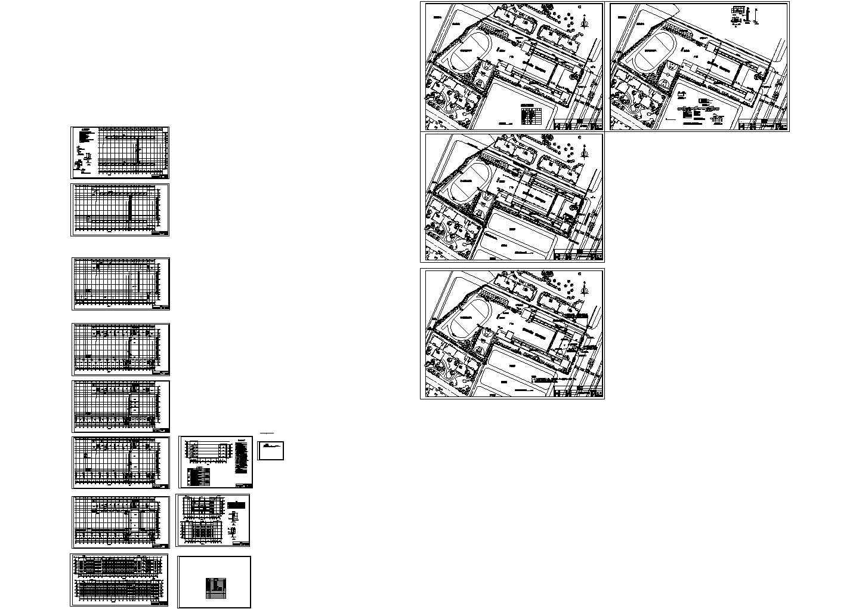 【4层】6547.43�O框架综合教学楼设计施工图(工程量计算(土建,钢筋)、建筑结构CAD图(给排水,强弱电,体育总平面图),计价)图片3