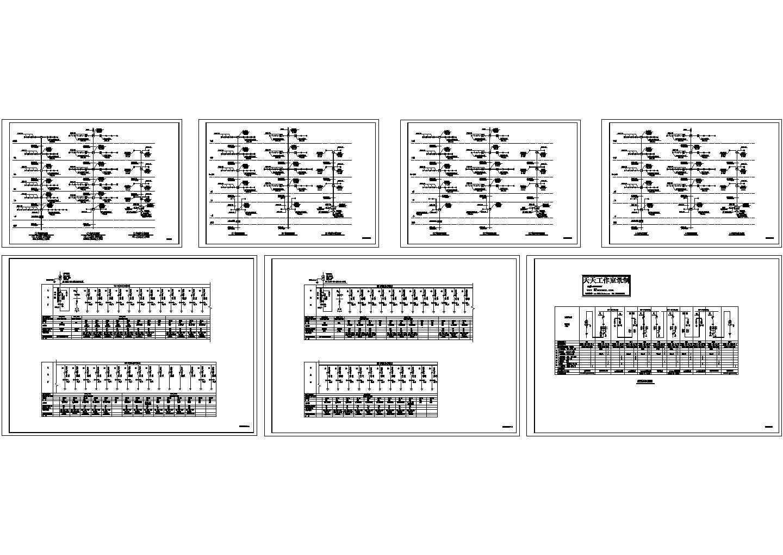 某小区高层住宅高低压配电系统图,共7张图片1