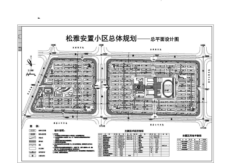 总用地379808.07平米安置小区总体规划总平面设计图图片1