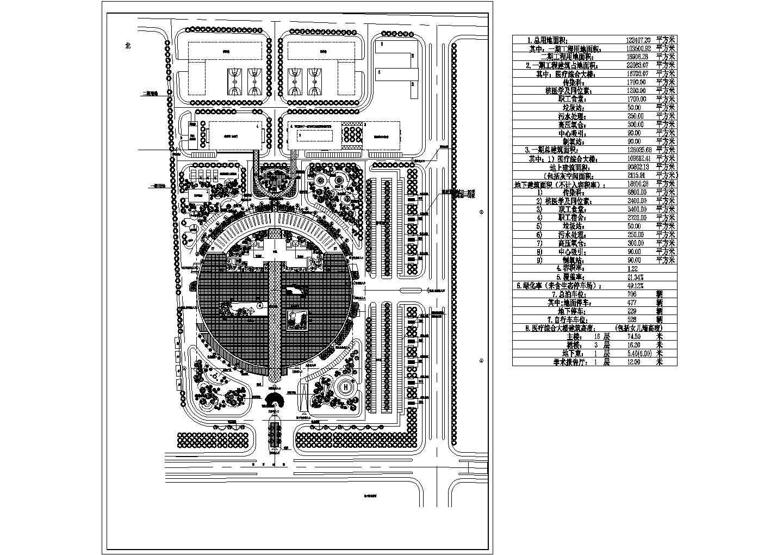 医院环境总平面布置景观设计CAD图纸图片1