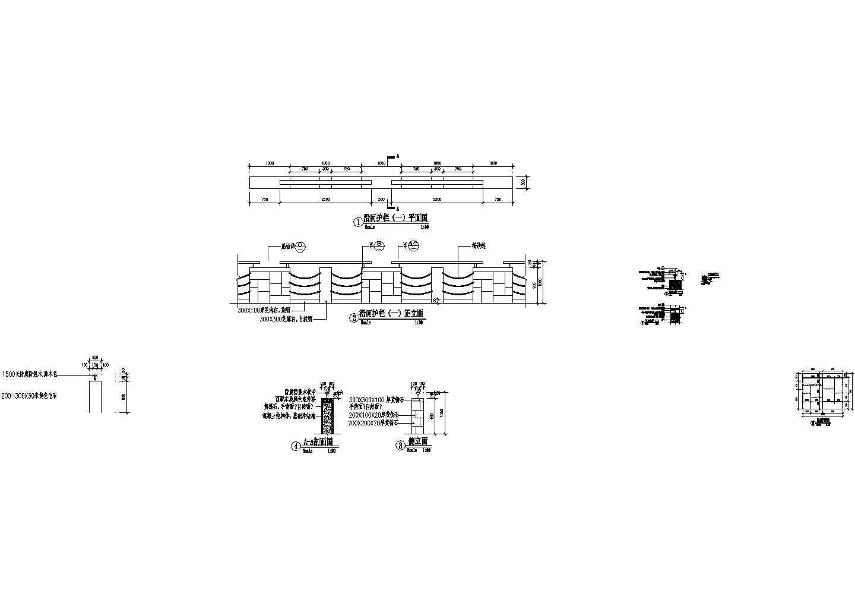 东湖花园T区二期河驳岸环境景观设计施工cad图纸图片3