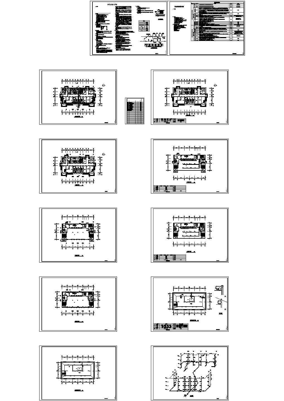 某三层框架结构中学食堂暖通设计施工图纸(总建筑面积2009平方米)图片1
