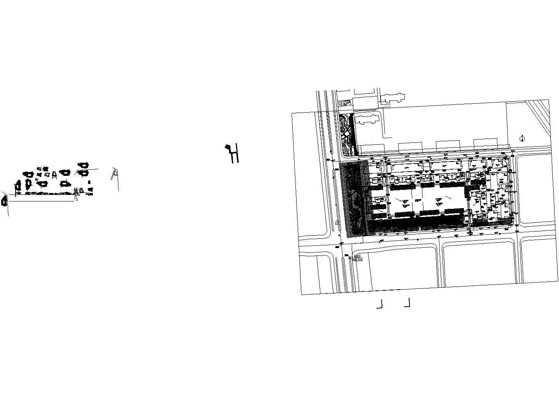异形廊架及卫生间建筑设计图纸图片1