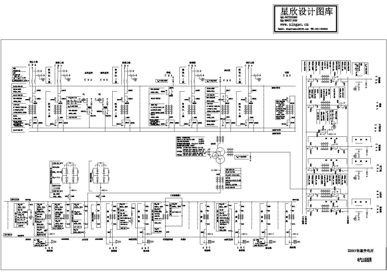 220KV变电所一次系统图图片1