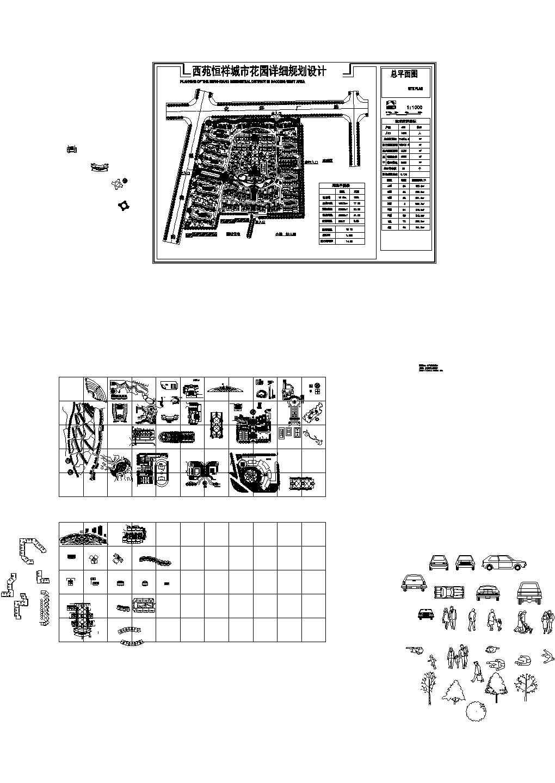 总用地10.6ha户数498户城市花园详细规划设计总平面图图片1