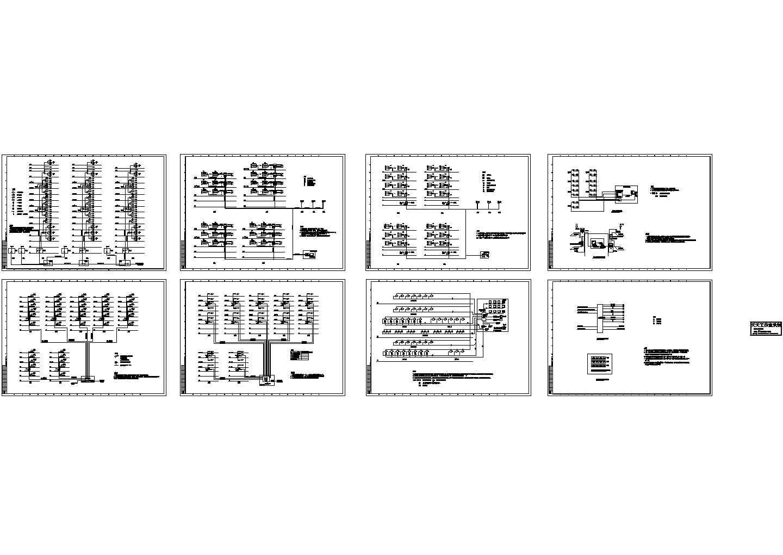 某高层住宅小区弱电系统图,共8张图片1