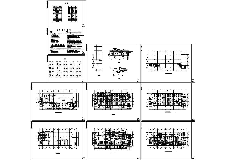 洁净厂房空调系统cad平面布置施工图(含施工设计说明,图例,设备表)图片1