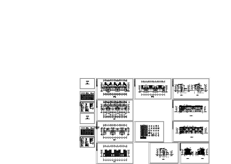玉泉馨园小区规划别墅施工图cad图纸含平立面图图片1