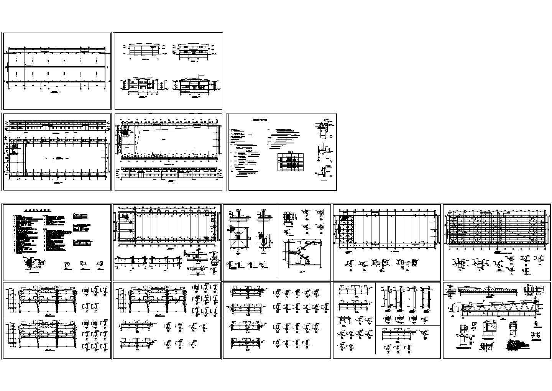 长72.3米 宽21.44米 局部2层1776.2平米丁类标准厂房建筑施工图图片1