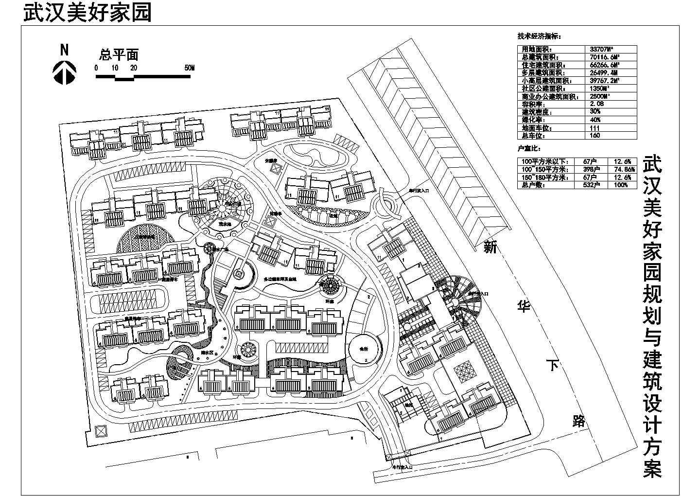 用地33707平米美好家园规划与建筑设计方案总平面图图片1