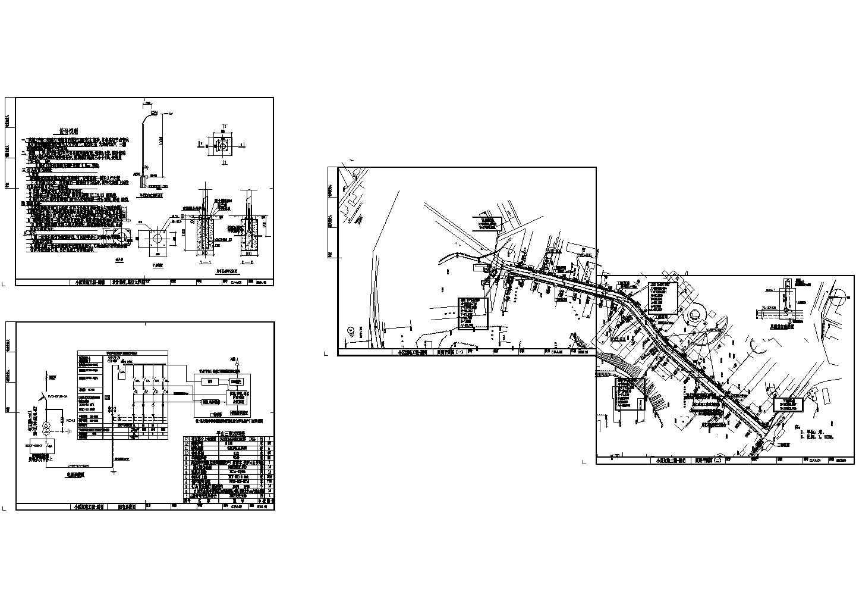 平山三街路灯电源道路照明CAD图图片1