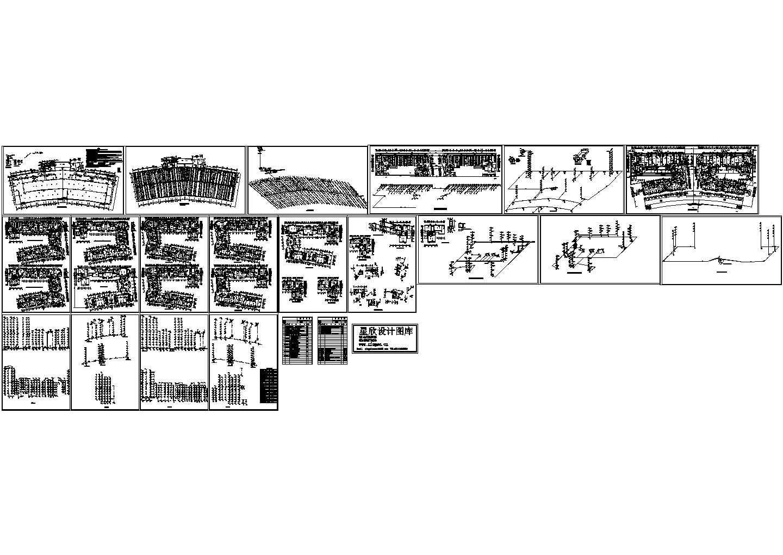 非常全面的高层住宅楼的给排水CAD设计施工图(含透视图)图片1