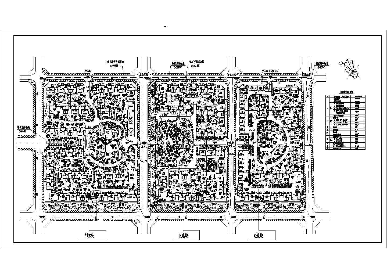 净用地(不含代征地)104284.07平米居住户数2525户住宅小区总平面投标方案图图片1
