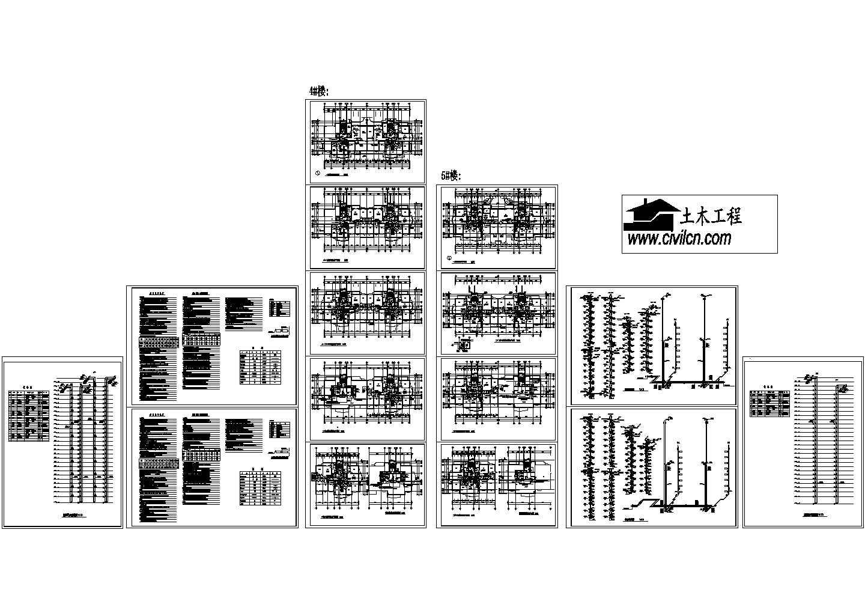 高层住宅楼采暖通风防烟cad平面施工图(含设计说明,设备表)图片3