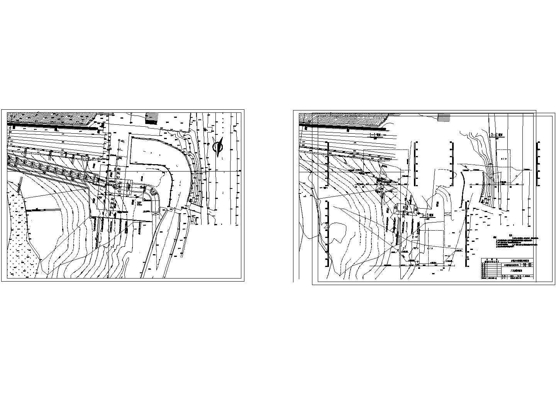 【浙江】南方水电站厂房cad施工图(全套)图片1