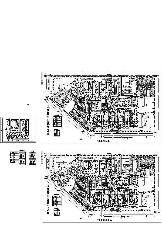 总建设用地13公顷居住户数1340户文化苑小区规划方案平面定位修改图2张 含综合技术指标图片1