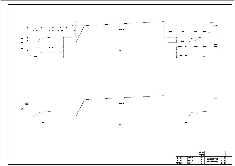 某三层车站自动喷淋系统设计cad图纸图片1