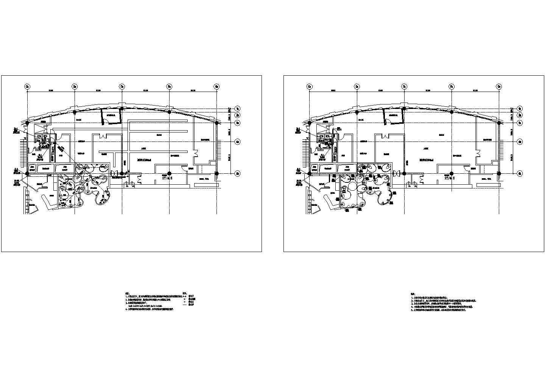 高级食府店卫生间给排水施工cad图纸图片1