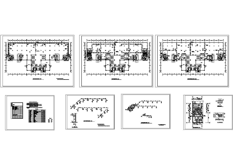 某建筑人防地下室通风排烟设计cad平面施工图(含设计说明,设备表,大样图)图片1