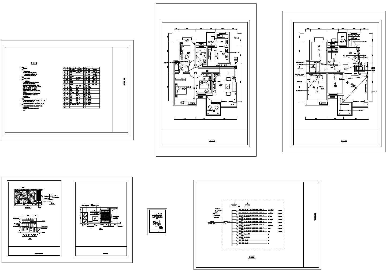 某样板间装修电气施工图图片1