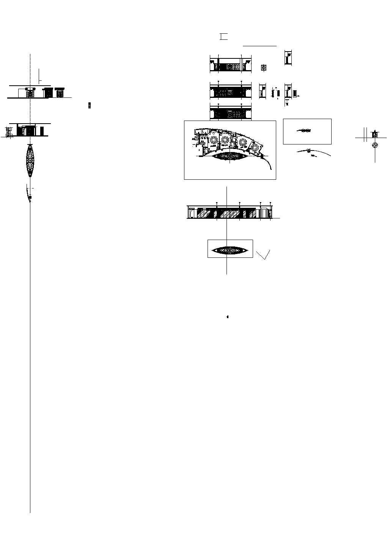 北京五星酒店中餐厅施工cad图纸图片3