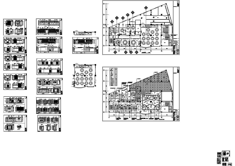 二层中餐厅装修施工cad图,共十六张图片1