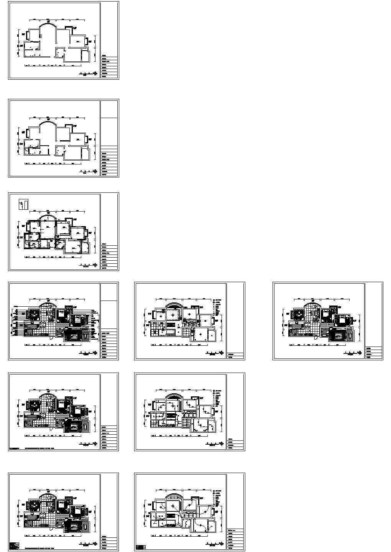 超现代风格三室二厅装修设计图图片1