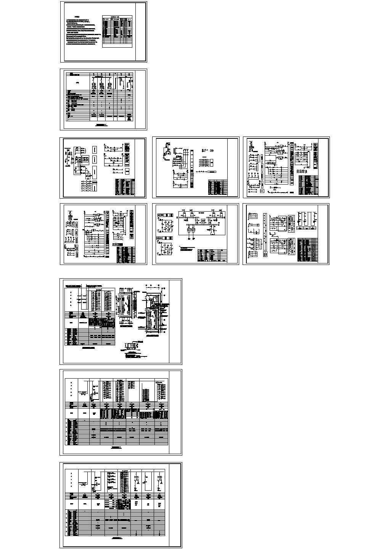 【东莞】某娱乐层变配电房及配电,消防报警系统电气施工图图片1