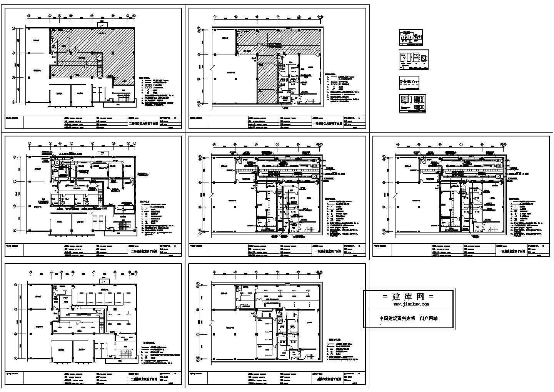 药厂车间净化空调系统cad施工方案图纸(含大样图)图片1