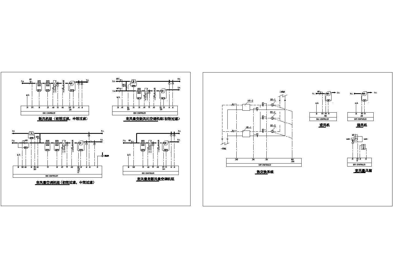 某地区空调自控原理电气施工图图片1