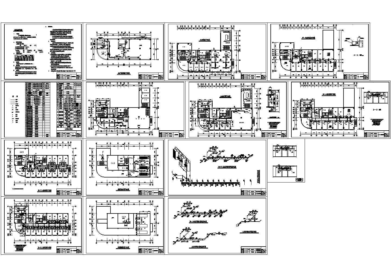[湖北]高层商业办公楼空调通风系统设计暖通施工图图片1