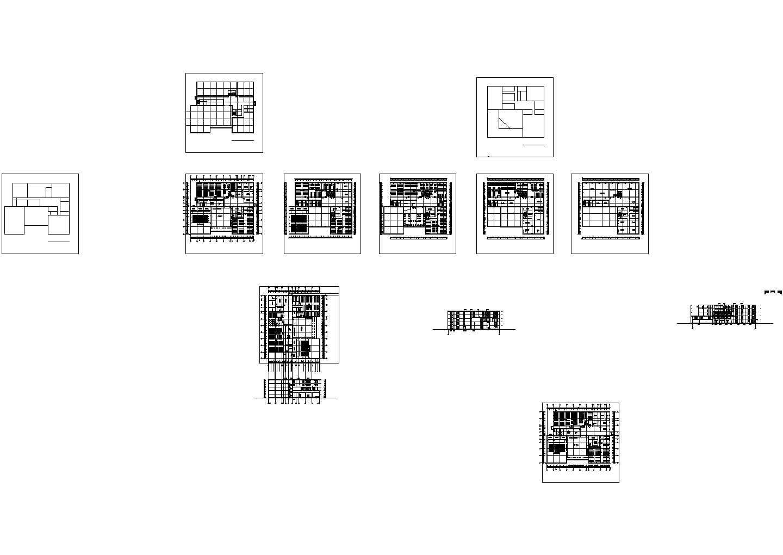 某长126米 宽47.7米 五层学校图书馆设计图含总平面图带1外观效果图图片1