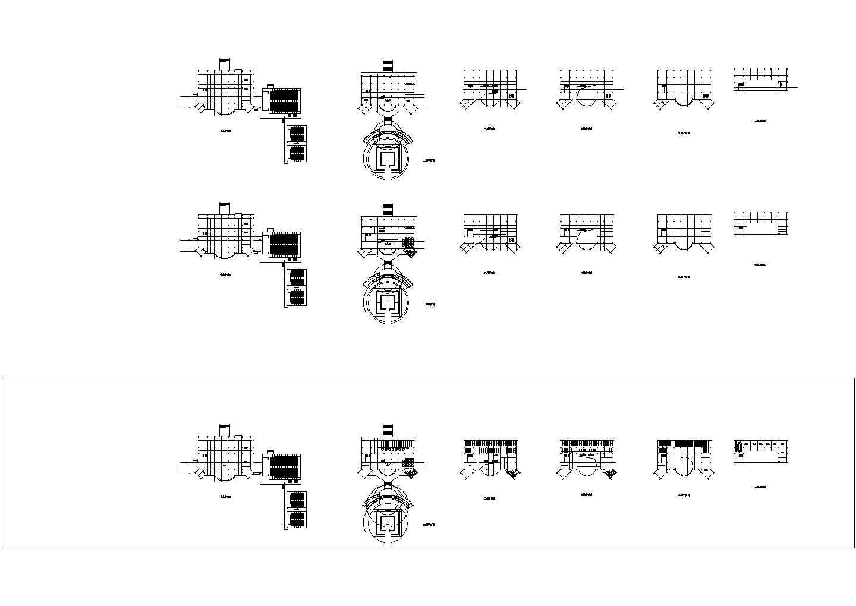 某长126米 宽47.7米 五层学校图书馆设计图含总平面图带1外观效果图图片2