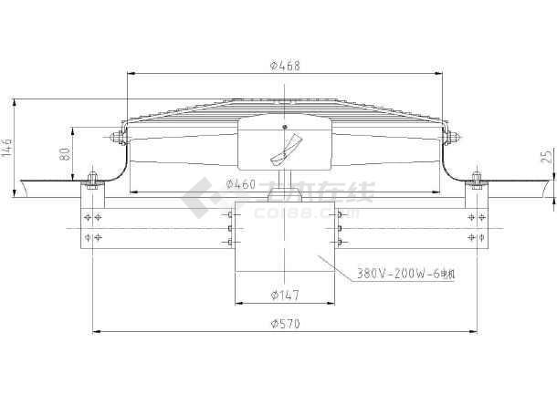 含报价铸造车间环保空调设计cad方案施工图(含设计说明)-图一