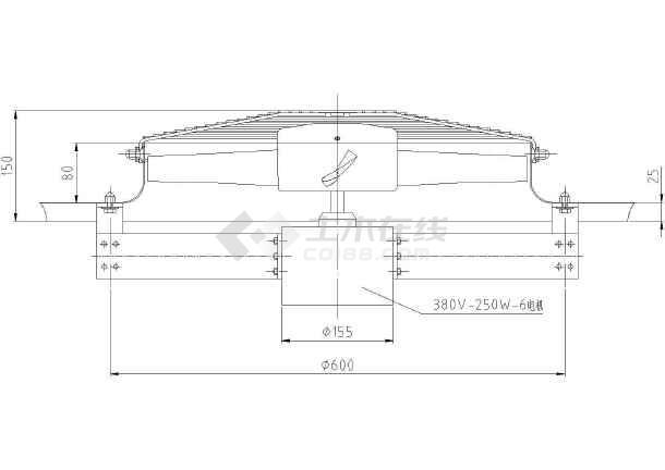 含报价铸造车间环保空调设计cad方案施工图(含设计说明)-图二