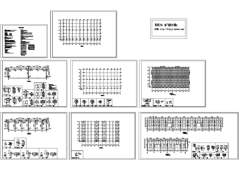 某51米跨两跨两坡门式轻钢结构厂房CAD结构施工图(含计算书)图片1