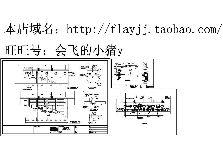 花架景墙 CAD建筑设计施工图图片1