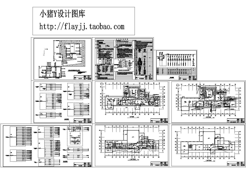 某地2层医院机房综合楼电施图纸(含配电系统图)图片1