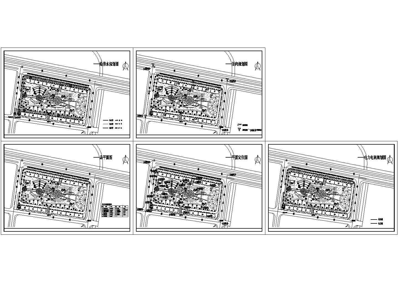 某地小游园cad全套图纸(含电力电讯规划图)图片1