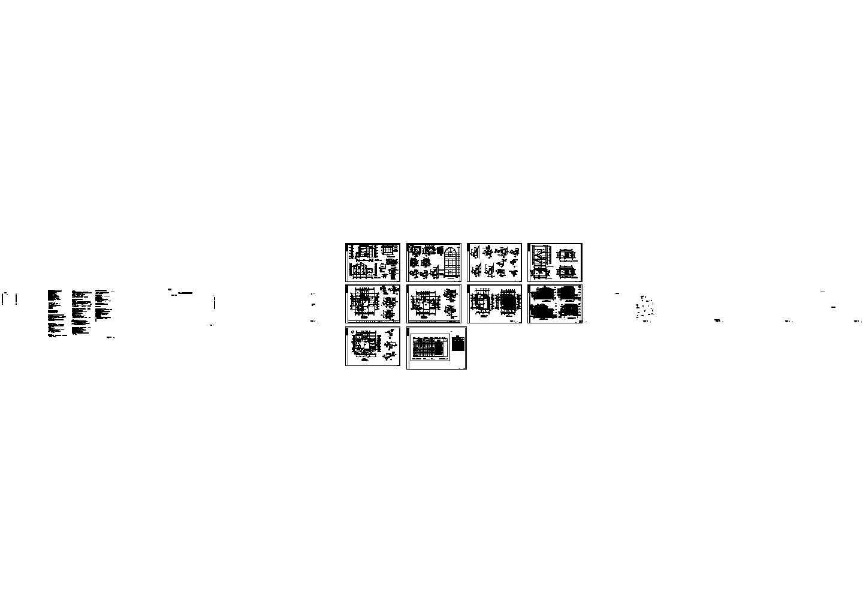 白云苑三层别墅全套建筑设计cad图纸,共10张图片1